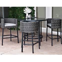 High Top Outdoor Patio Furniture 5 Leisure La Danta Dining Set By Leisure Select
