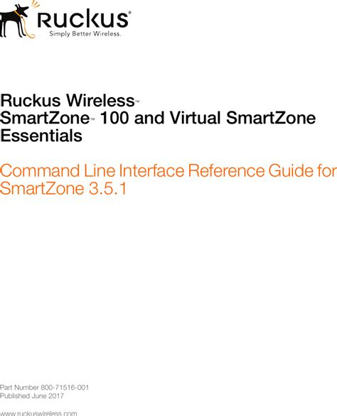 ruckus sz   vsz  command  interface reference guide  smartzone  smart zone