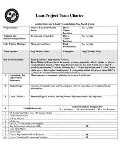 team charter template 8 project charter templates free sle exle