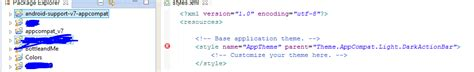 eclipse theme appcompat light android no resource found that matches the given name