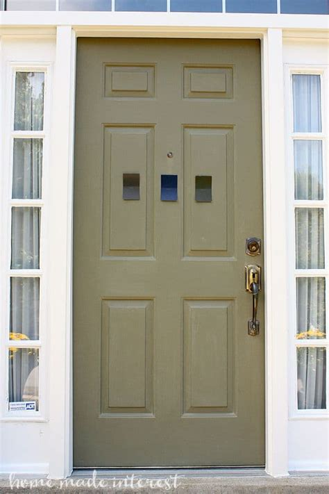 a simple fall house update how to paint an exterior door