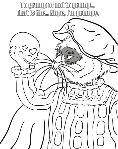 grumpy cat coloring pages sketch coloring page