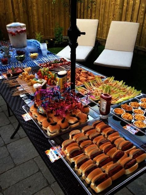 outdoor bbq i like that all of the food is quot mini