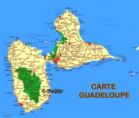 Carte De by Carte De Guadeloupe Ile Ouest Et Est Arts Et Voyages