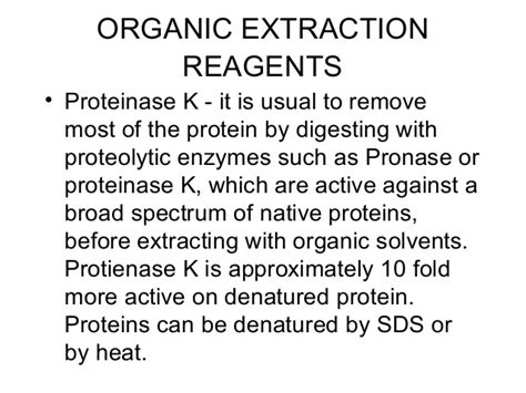 proteinase k dna extraction dna extraction