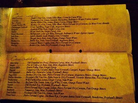 Patterson House Menu Picture Of The Patterson House Nashville Tripadvisor
