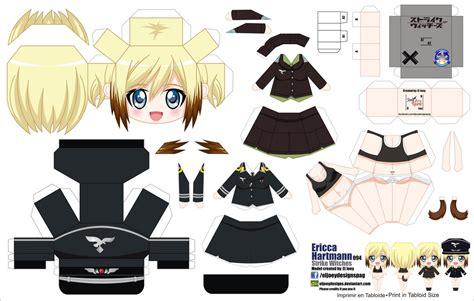 Papercraft Animation - papercraft de anime erica hartmann manualidades a