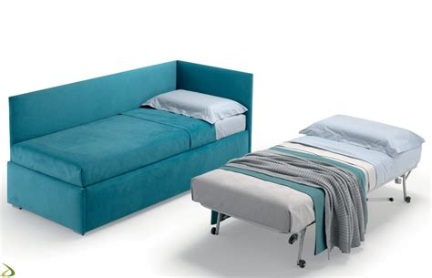 letto con secondo letto estraibile divano letto per cameretta bimbi ceos arredo design