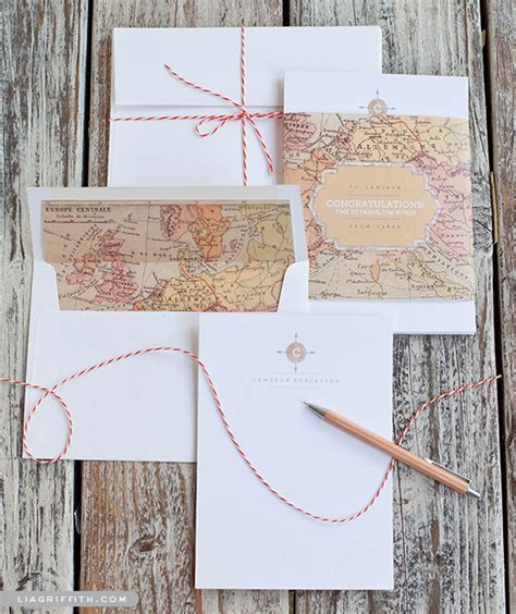 printable vintage envelope free printables vintage map note cards envelopes diy