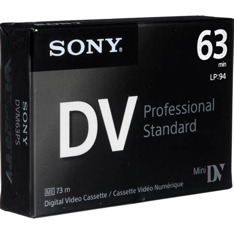 mini dv digital cassette sony mini dv professional standard digital dvm63ps