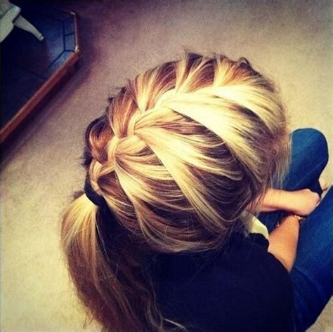 hairstyles for straight hair school 15 adorable french braid ponytails for long hair popular