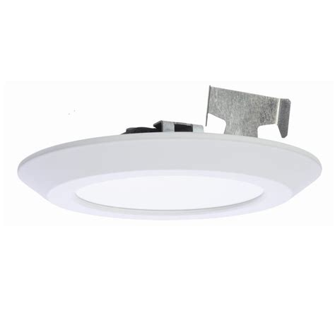 halo shallow can lights halo 5 in and 6 in matte white recessed led surface disk
