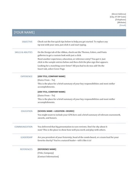 Professional Resume Formats by Top Tips For Resume Formats 2018 Resume 2018