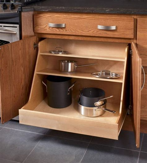 kitchen storage cabinets for pots and pans storage solutions details base pots and pans organizer