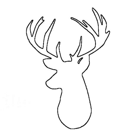 free printable reindeer head templates deer head outline clipart free clipart crafts