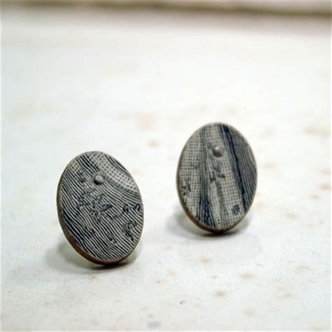 How To Make Paper Stud Earrings - vintage fabric paper stud earrings contemporary earrings