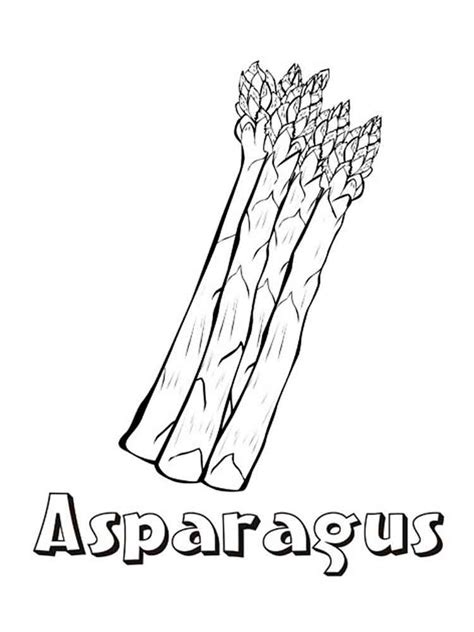 Asparagus Coloring Page | asparagus coloring pages download and print asparagus