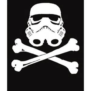 stormtrooper skull and crossbones star wars funny t