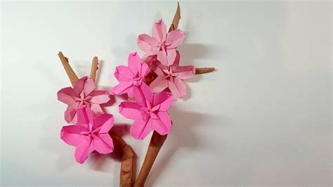 origami new year decorations origami cherry blossom for new year decoration origami