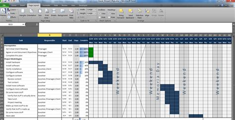 project timeline example and free management templates excel