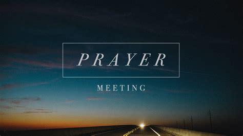 church meeting devotions