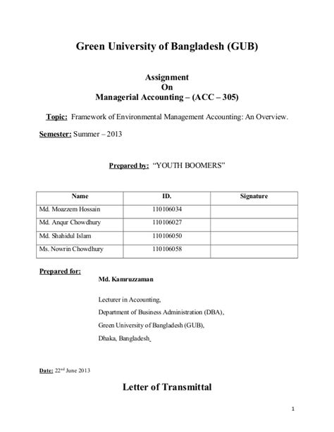 Mba Project On Management Accounting by Managerial Accounting Assignment