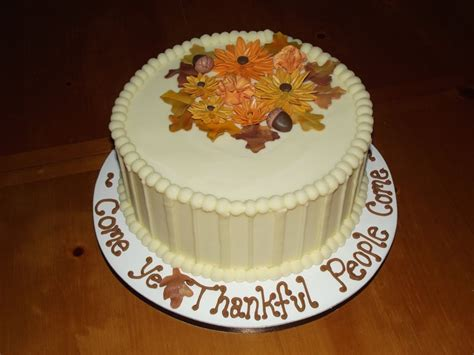Decorations For Cakes by Thanksgiving Cakes Decoration Ideas Birthday Cakes