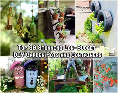 Planting The Chic In Cheap by 30 Stunning Low Budget Diy Garden Pots And Container Ideas