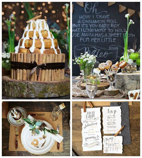 Rustic Baby Shower Theme by Kara S Ideas Quot My Cinnabun Quot Themed Rustic Baby