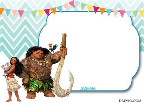 Free Moana Birthday Invitation Template Free Invitation Templates Drevio Moana Invitation Template