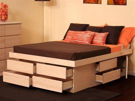 Size Platform Bed With Storage Drawers by Bed Size Platform Bed With Drawers Kmyehai