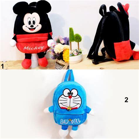 Tas Paketan Ransel Doraemon jual tas ransel boneka mickey mouse doraemon anak sekolah