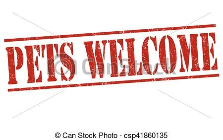 vectors of pets welcome sign or st pets welcome