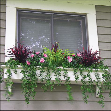 outdoor window box filling window boxes with artificial outdoor plants