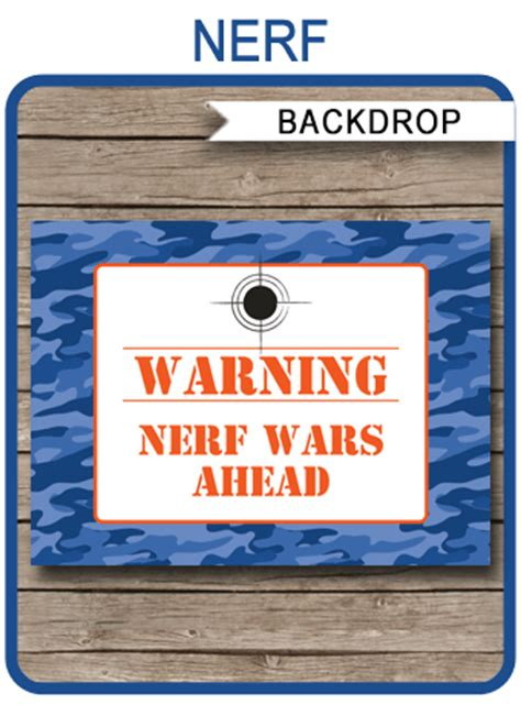 nerf birthday party backdrop  sign nerf party decorations