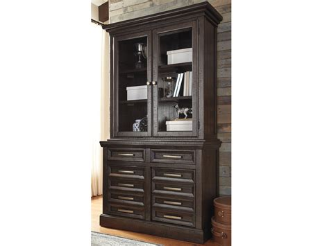townser home office desk with hutch townser office credenza tall hutch h636 60 60h