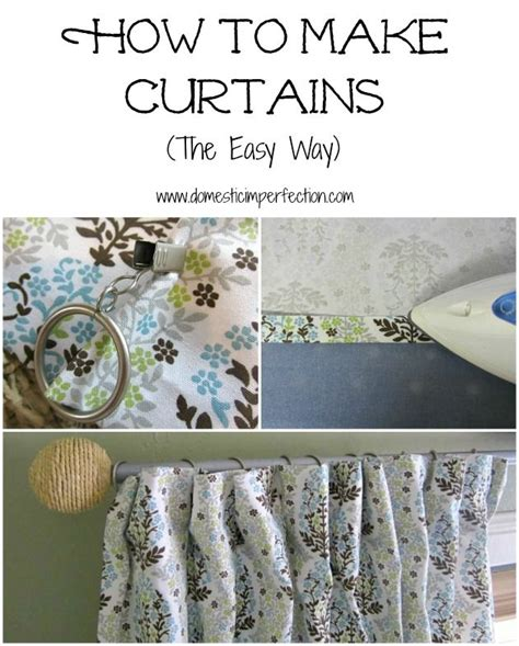 how to make simple curtains without a sewing machine 20 best images about curtain ideas on pinterest the two