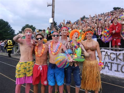 good student section themes students rallying behind football team s winning start