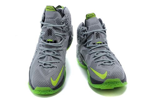 cheap lebron basketball shoes cheap nike lebron 12 grey green basketball shoes