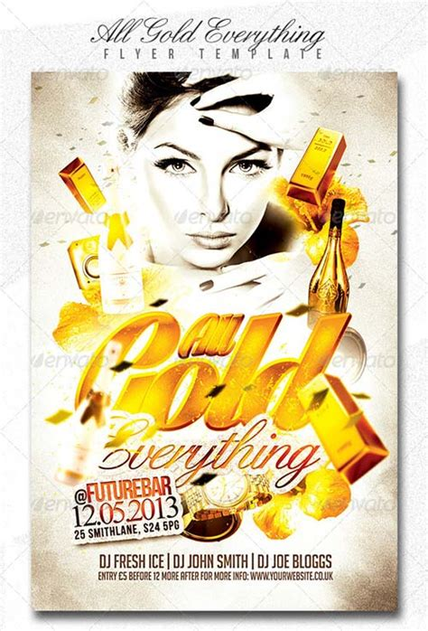 Graphicriver Flyer Templates by Graphicriver All Gold Everything Flyer Template