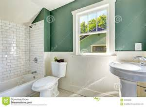bathroom with green walls bathroom interior with white and green wall trim stock