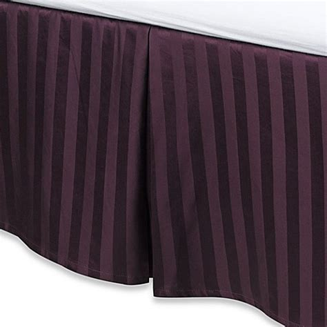 bed skirts bed bath and beyond wamsutta 174 500 damask bed skirt in purple bed bath beyond