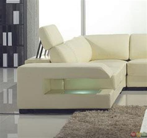 cream leather sectional sofa cream italian leather modern sectional sofa with shelves