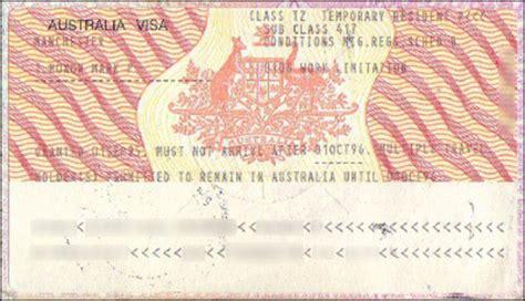 australian working visa a picture australia