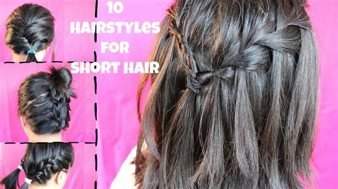 heatless hairstyles medium hair 10 heatless hairstyles for short hair youtube