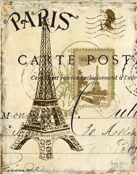 printable louisiana postcards paris collage i prints by gregory gorham at allposters com