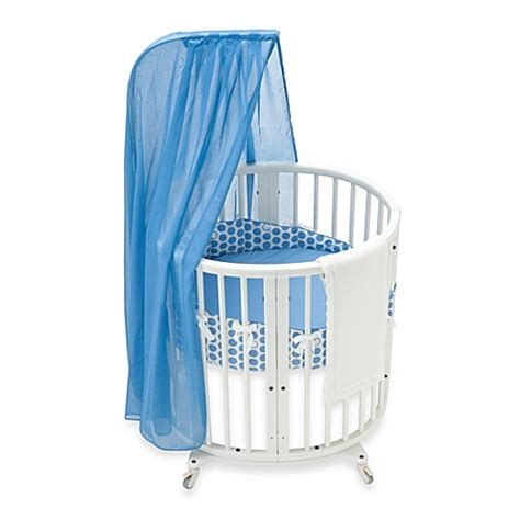 Stokke Sleepi Mini Crib Stokke 174 Sleepi Mini Blue Dots Crib Bedding Set And Accessories Bed Bath Beyond