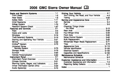 2006 Gmc Sierra Owners Manual Just Give Me The Damn Manual