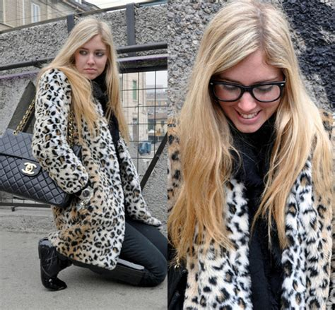 Kacamata Chanel 2 Leopard chiara ferragni chanel 2 55 jumbo zara leopard coat by i feel like a leopard lookbook