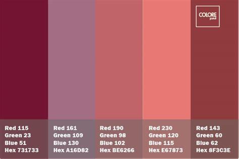 tavole dei colori tavolozza con abbianmento di rosa varie tonalit 224 di viola